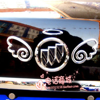 100PCS / LOT 3d Funny Bumper Stickers Angel Wings oro argento rosso economici auto decalcomanie dalla Cina