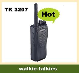 Wholesale Intercom Way - talk TK 3207 2 Way Radio Walkie Talkies TK3207 UHF 400 470MHZ 5W Radios intercom interphone 2pcs lot