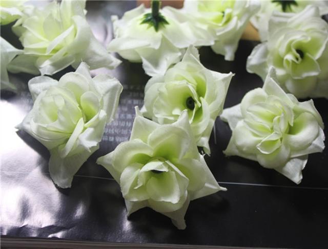 200P Artificial Simulation Silk Camellia Rose Peony Flower 4.5cm Party DIY Broche Hoofddeksels 6 kleuren