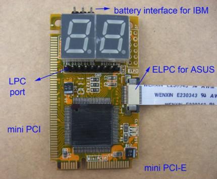 5 in 1 Laptop Mini PCI-E ELPC LPC Diagnostic Post Test Card,debug test,MiniPCIe/MiniPCI/LPC/ELPC/I2C