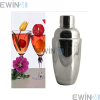 Wholesale Stainless Steel Bar Drink Mixer - 550ml Stainless Steel Cocktail Shaker Party Drink Mixer Beautiful Bar Tools New and Good Quality 50pcs