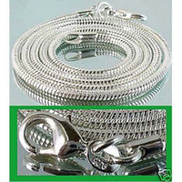 925 serpiente de plata de 2 mm 24 pulgadas al por mayor-Venta al por mayor Cadenas collares, 925 plata 2 mm 16 pulgadas ~ 24 pulgadas serpiente mixta collares / cadenas 100pcs