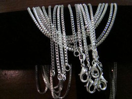 $enCountryForm.capitalKeyWord Canada - Good Selling Box Chains Necklaces ,925 Silver 2mm 16inch~24inch Mixed Box Necklaces  Chains 100pcs