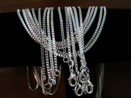 $enCountryForm.capitalKeyWord Canada - Vogue Concise Box 925 Chains Necklaces ,925 Silver 2mm 16inch~24inch Mixed Box Necklaces  Chains Jewelry 10pcs