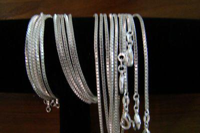 Fashion Best Concise Box Chains Necklaces Jewelry ,925 Silver 2mm 16inch~24inch Mixed Box Necklaces /Chains 50pcs