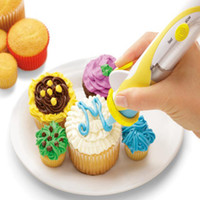 Wholesale Deco Cake Decorating - Frosting Deco Pen cake decorating Beautifully decorates cakes and cookies in minutes 40pcs lot