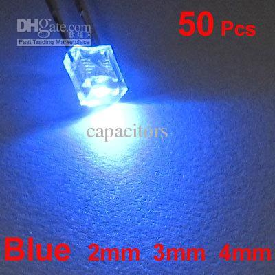 Gratis verzending 100 stks 2x3x4mm blauw led lamp Rohs Compliance Long Life