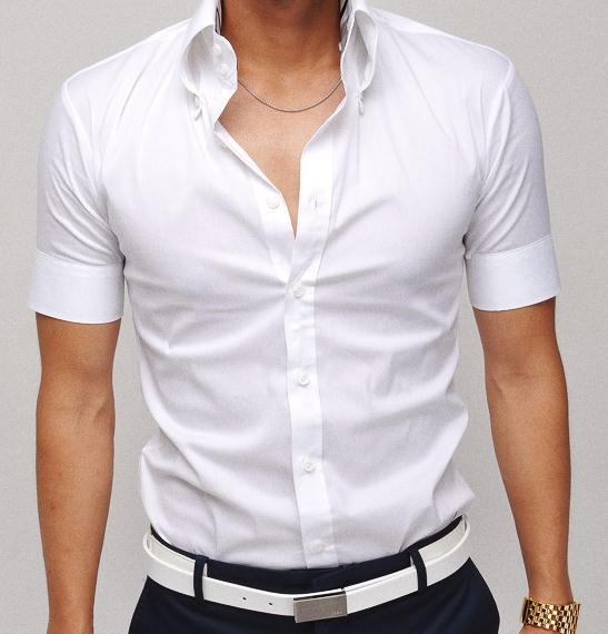 2017 Men's Business Short Sleeve Shirts Man's Formal Office Cotton ...