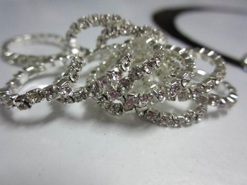 Hotsale Rhinestone Toe Pierścień, 12 Kolory Kamienie Mieszane, Blingbling Foot Biżuteria