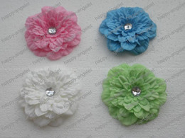 "Wholesale Beautiful Hair Bows - 12pcs new 4"" hair peony flower Children's clip baby beautiful flower barrettes girl bands"