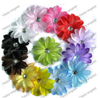 "Wholesale Beautiful Lily - new 4"" hair Lily Children's clip gerbera baby beautiful flower barrettes 12pcs lot"