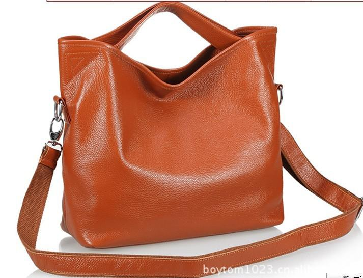 Nwt Women'S Genuine Leather Hobo Bag Shoulder Bag With Long ...