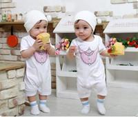 Wholesale Bodysuits Gentleman - Wholesale -NEW baby romper Gentleman rompers bodysuits Hot selling-baby infant clothes -CDM316E