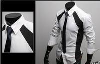 Wholesale Colours Dress Shirts - Men Shirts Casual Slim Fit Stylish Dress Shirts size,S,M,L,XL Colour White Mixed