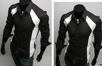 Wholesale Casual Dress Shirt Colours - Men Shirts Casual Slim Fit Stylish Dress Shirts size,S,M,L,XL Colour White ,black