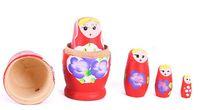 Wholesale russian wood nest dolls online - Russian Nesting Dolls Matryoshka Doll Toy handmade Wooden toys Russian toys set