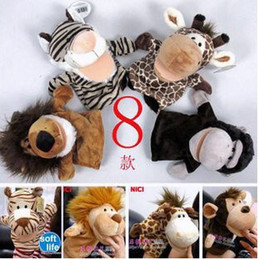 Wholesale Nici Plush Toys - free shipping Hot sale super cute plush toy nici forest animal hand puppet 4pcs a lot free shipping
