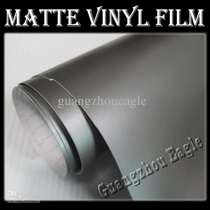 Matte Grey Pvc Vinyl Wrap Stickers Wrapping Decals Wrap For - Vinyl for motorcycles
