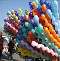 Wholesale Pvc Balloons - free shipping Wholesale Kids toys Balloon Spiral Balloons For Wedding Birthday Party Christmas toys