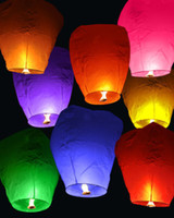 Wholesale Sell Lantern - Hot sell 20PCS FIRE SKY CHINESE LANTERNS BIRTHDAY WEDDING PARTY UFO