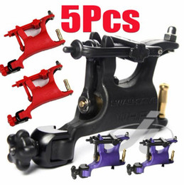 Wholesale Wholesale Tattoo Guns - 5Pcs Lot Butterfly Rotary Tattoo Machines Swashdrive WHIP Tattoo Gun Kits Supply Excellent