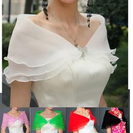 Wholesale Sleeveless Bridal Bolero - 2018 In Stock ready to ship high quality wedding dress Bridal bolero scarf evening Special Occasion