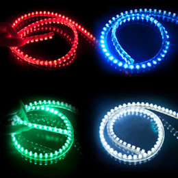 Wholesale Audi Led Strips - 200PCS LOT LED Strip Flexible Car Strip Bulb Light White Blue Red Green Waterproof LED Power Light