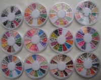 rodas de animais venda por atacado-Fimo Nail Art Nail Tip Argila Do Polímero DIY 3D Mix Dicas UV Acrílico Decoração Roda animal flor frutas