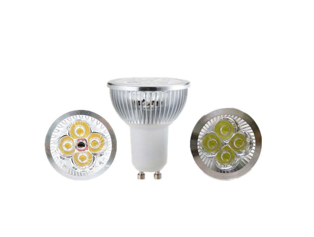 판매 10 개 / 몫 디 밍이 가능한 LED 램프 GU10 4X3W 12W 스포트라이트 전구 높은 파워 라이트 무료 배송