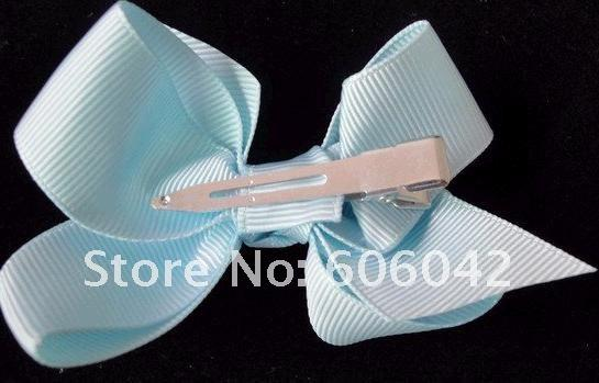 """3.3""""-3.5"""" Baby ribbon bows with clip,grosgrain hairclips,Hairclips,Girls' hair accessorie"""