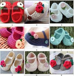 Zapatos de bebé hechos a mano de ganchillo de algodón online-¡zapatos de bebé hechos a mano del ganchillo de algodón! ¡Zapatos suaves de niños de 0-24 meses! (10pcs) ccx42