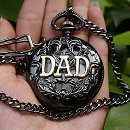 мужские серебряные карманные часы Скидка DAD BLACK SILVER QUARTZ MENS POCKET WATCH NICE GIFT NEW