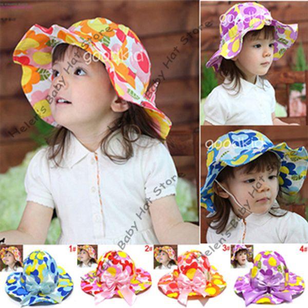 dd0e20c0b33 2012 new baby flower bucket hat kids sunhat baby cotton cap baby topee child  spring