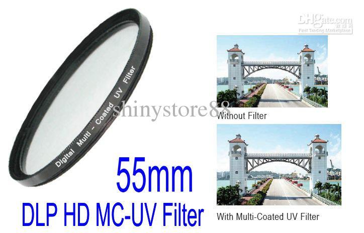 Emolux Digital UV HD DLP MC-UV 55mm Filter Broadband HD,Digital Low Profilter,Multi-Coat UV