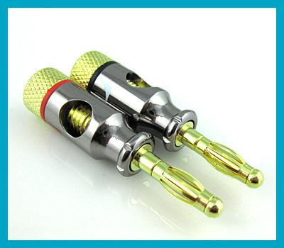 2018 4mm Gold Speaker Wire Cable Banana Plug Connector From ...
