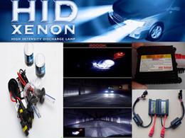 Wholesale Xenon Kit Cars - Automobile Headlight Xenon HID Conversion Kit 12V DC 35W H7 4300K-12000K Car Hid Xenon Kit hid Blub Lamp Slim ballast auto headlamp