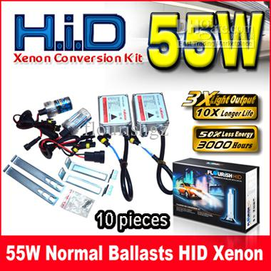 55W NORMAL BALLASTS HID XENON CONVERSION KIT GENUINE AC A/C DIGITAL BALLASTS H1 H3 H4 H7 9-16V