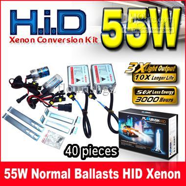 55W Normala Ballast HID Xenon Conversion Kit äkta AC A / C digitala ballast H1 H3 H4 H7 9-16V