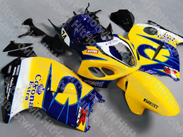 Wholesale Hayabusa Yellow - Injection mold fairing for GSXR1300 GSX-R1300 hayabusa 1996 - 2007 GSXR 1300 96 - 07 Yellow  blue