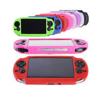 Wholesale Psv Protective Skin - Black Soft TPU Protective Case Silicon Skin Case for Vita PSV PS Vita colorful 50pcs