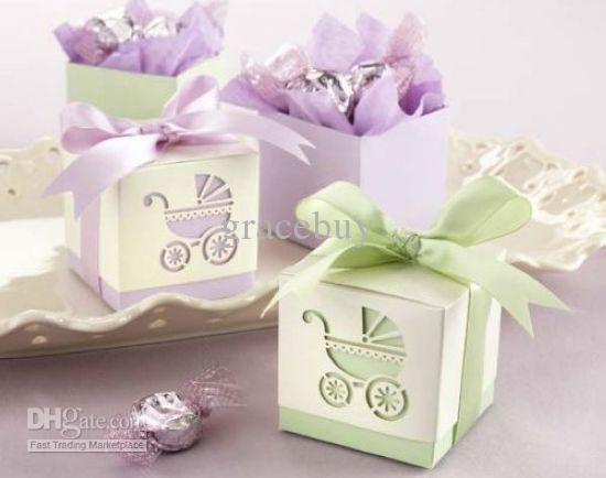 Baby S Day Out Laser Cut Carriage Cube Pram Shower Favor