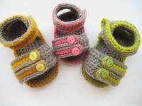Wholesale Custom Sandals Wholesalers - Crochet baby cute shoes double sole boy sandals 0-12M 12pairs lot custom