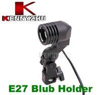 Wholesale E27 Flash Slave - Single Lamp Bulb Holder E27 AC Socket Slave Flash Swivel Bracket Light Mount EU Plug