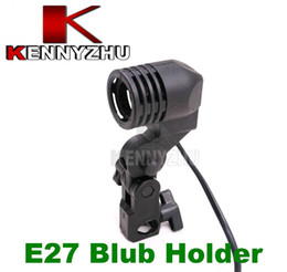 Wholesale E27 Flash Slave - Single Lamp Bulb Holder E27 AC Socket Slave Flash Swivel Bracket Light Mount EU Plug