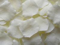fildişi yaprakları düğün toptan satış-2000 adet Fildişi ipek gül yaprağı yaprakları düğün parti dekorasyon şekeri