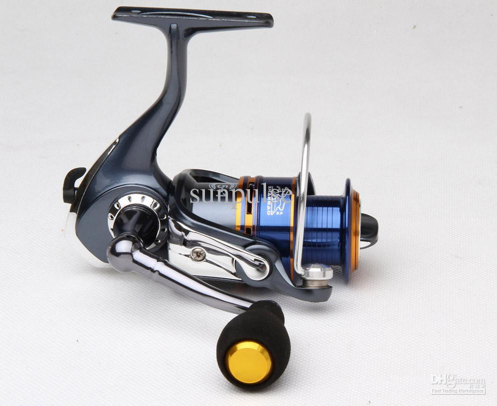 Fiske Reel Fiske Tackle Spinner Lure Casting Reel 4 + 1BB Fising Reel / Spegelmålning, Mjukt gummithandtag
