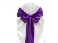 ingrosso sedie di banchetto viola-25pcs viola raso sedia telai copertura della sedia arco festa nuziale banchetto telaio di alta qualità nuovo multi colori per scegliere