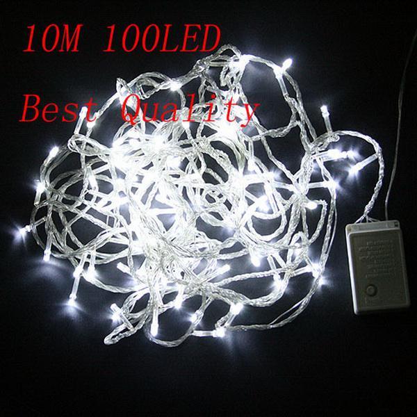 Pedido mínimo es 10M 100 luces LED de cadena luces de flash fiesta de Navidad hadas lámparas de boda