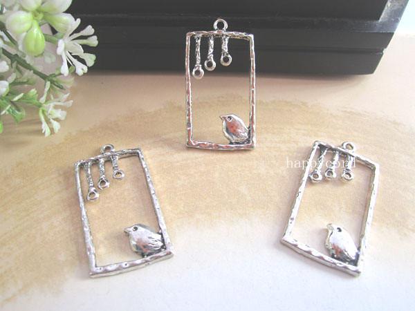 Antieke zilveren vogel bedels 18 mmx30mm, sieraden accessoires 50pcs / lot