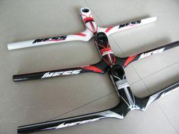 Wholesale Ness Mtb - NESS 3K Full Fiber Carbon MTB Bike Handlebar Integrated Stem 31.8*90 100 110 120 130mm*580 600 620mm